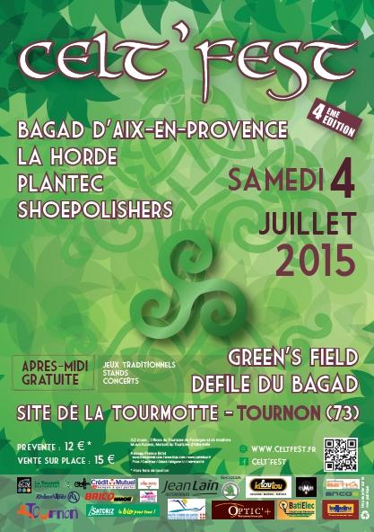 flyer Celt'Fest 2015