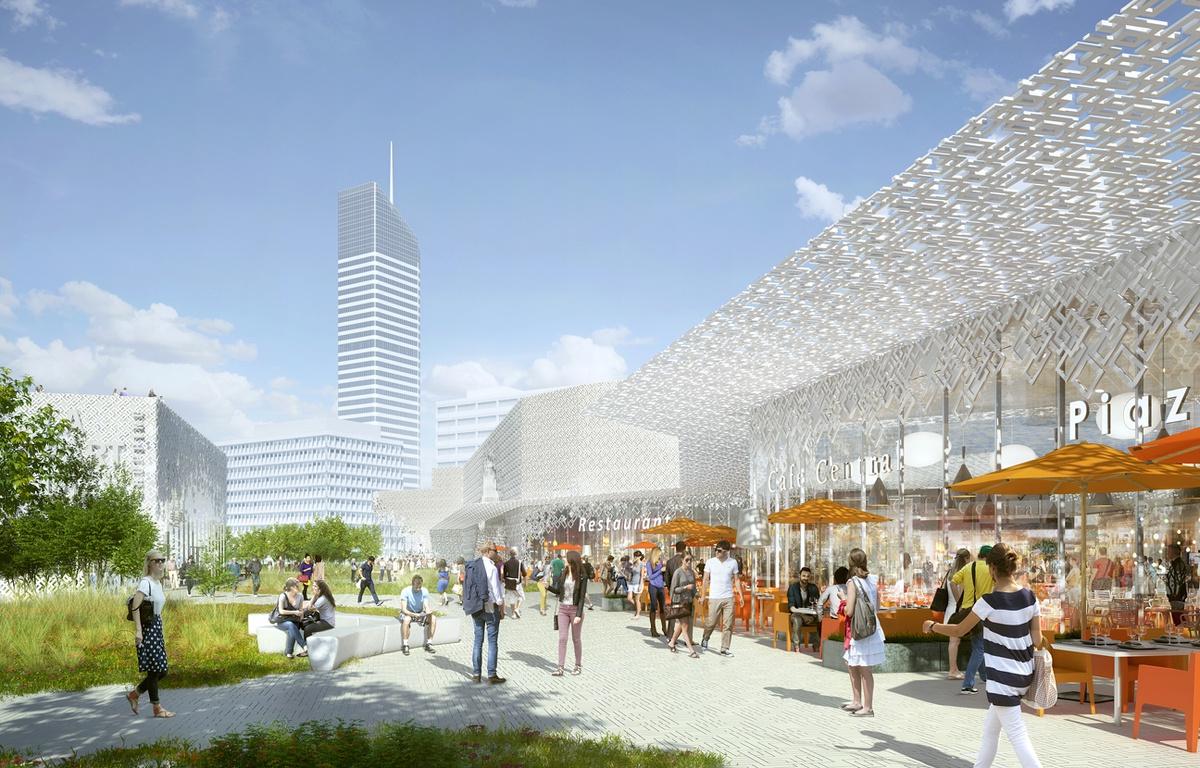 Future terrasse végétalisée toit de Lyon Part Dieu