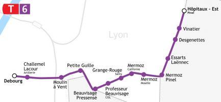 Futur tramway T6 à Lyon : une bonne occasion d'investir dans l'immobilier dans le 3ème, 8ème, Bron